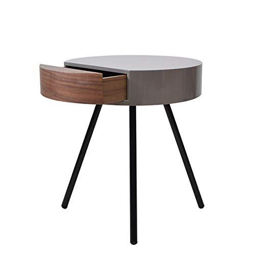 FENXIXI Mesa lateral moderna nórdica, sala de estar, sofá esquina, mesa de centro, mesa redonda mesa creativa, mesa de salón