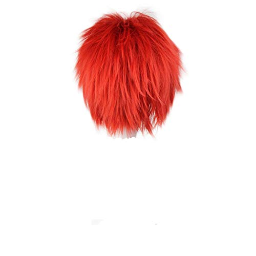 Fashion Anime Costume Party Cosplay Short Wig Red Boy Male Hair