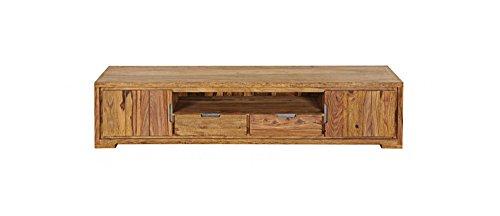 SAM® Longboard TV-Schrank White Mountain IV aus Sheesham, eine Ablagefläche, zwei Schubladen, zwei Schiebetüren