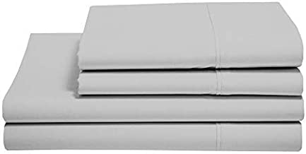 100% Cotton Sheets - Real 800 Thread Count RV-King 4 Piece Bed Sheet Set - Soft & Smooth Hotel Luxury 4pc Sheet Set Solid 15 inches Deep Pocket (RV-King, Silver Grey)