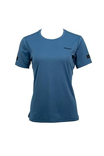 UANDWOO Performance Sport T-Shirt Damen schwarz Polyester Tee, Size:L, Farben:quiet harbor