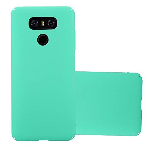 Cadorabo Hülle für LG G6 in Frosty GRÜN - Hardcase Handyhülle aus Plastik gegen Kratzer und Stöße - Schutzhülle Bumper Ultra Slim Back Case Hard Cover