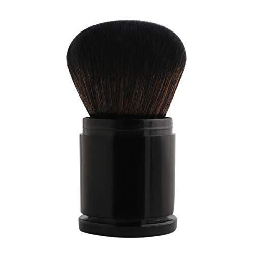 SDHF Portable Mini rétractable pinceau de maquillage Portable Poudre for le visage Contour Fondation Pinceau à blush professionnel doux pinceaux de maquillage, 1Pc (Couleur : Noir, Size : One Size)