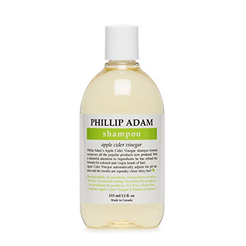 Price comparison product image Phillip Adam Apple Cider Vinegar Shampoo for Shiny Hair - Sulfate Free and Paraben Free - Original Green Apple Scent - 12 Ounce