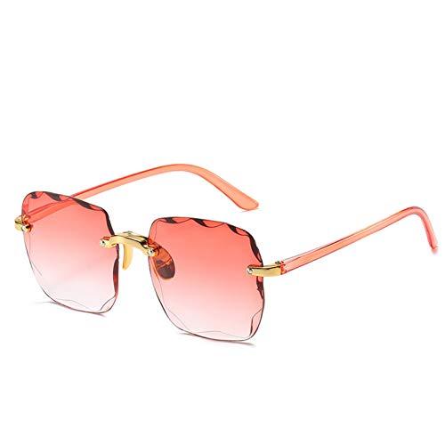 LDH Gafas De Sol Sin Marco De Moda para Mujeres, Gafas De Sol De Dos Tonos De Alta Definición para Hombres, Gafas De Sol Polarizadas Anti-deslumbramiento, UV400 (Color : E)