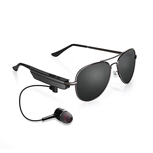 KKmoon Óculos de sol com fone de ouvido Bluetooth inteligente A8 Homens Mulheres Óculos de sol polarizados para dirigir Óculos esportivos Óculos de chamada musical
