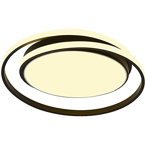 Instalación circular integrada LED Ajuste de luz de tres colores Lámpara de techo con personalidad creativa nórdica moderna y simple, Estudio de hotel Restaurante Dormitorio Balcón Herramienta de ilum