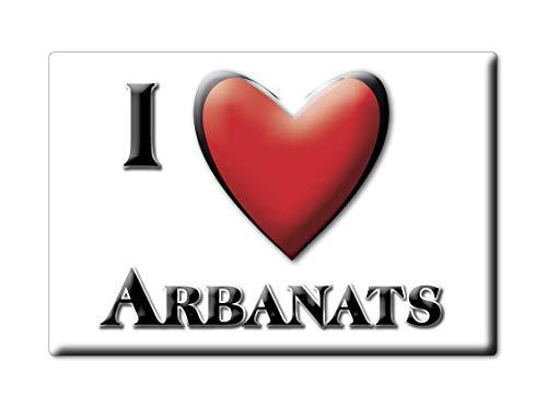 Enjoymagnets ARBANATS (33) Souvenir IMANES DE Nevera Francia Centre IMAN Fridge Magnet Corazon I Love