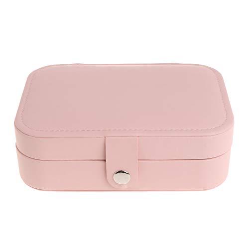 Yushu Caja de almacenamiento de joyería multifuncional organizador portátil para niñas con compartimento para pendientes, collar y pulsera