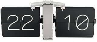 Karlsson Flip Clock No Case Black, Chrome Stand, Steel, 8.5 x 36 x 14 cm