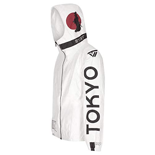 Tywear Men/Women TYVEK Lightweight Windbreaker Hooded Jacket W/Cool Design
