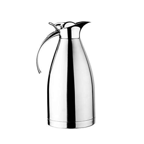 Zxcbhd Europese Stijl Roestvrij Staal Koffiepot Dubbele Muur Vacuüm Geïsoleerde Kop Warm Water Fles Pitcher Drank Dispenser