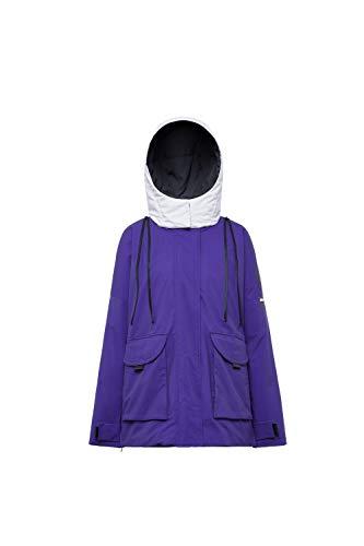 BOSIDENG - Kontrastierte Kapuzen-Gans-Daunenjacke für Damen
