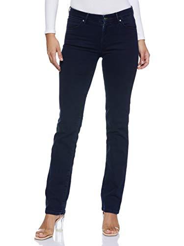 Wrangler Damen Jeans Straight Blueblack, Blau (Blueblack 51L), W34/L32