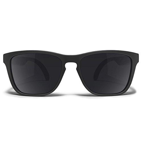 Distil Union MAGNETIC Stay-Put Seafarer Sunglasses with flexible comfort and durable shape-memory frames | Polarized Lens for Men Women (Anchor Black)