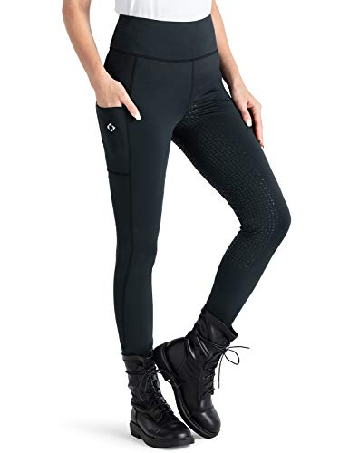 NAVISKIN Pantaloni da Equitazione per Donna, Calzamaglia Equitazione Intera con Impugnatura in Silicone, Morbido e Elastico