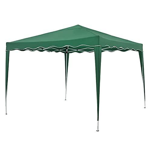 ArtLife Faltpavillon Vivara 3x3 m – Pop-up Pavillon höhenverstellbar, UV50+ & wasserabweisend – Gartenzelt mit Tasche – Partyzelt für Garten – Grün