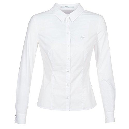 Guess Womens OUMOUU Weiss Hemden S