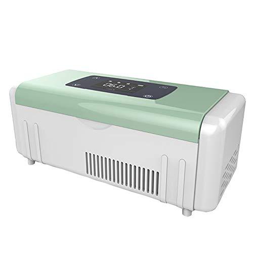 XRX Insulin Kühlbox Tragbar Intelligentes Auto Mini Tragbar Laden Kältemittel Kleiner Kühlschrank 2-8 ° C Konstante Temperatur Green