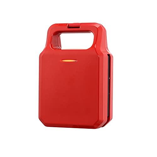 Brotmaschine Elektrischer Sandwichmaker Frühstücksmaschine Toaster Werkzeuge Home Light Food Multifunktions-Heizpresse Toastbrotmaschine Rot