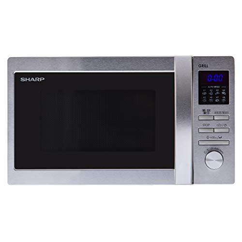 Sharp R622STWE Micro-ondes 800 W 20 l pour espace de cuisson/gril/argenté/noir