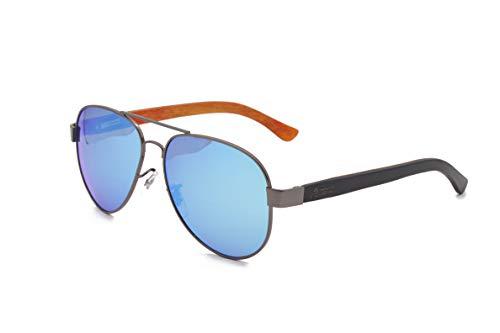 Wood Kiwi: Gafas de sol de madera - Polarizadas - UV400 - Unisex - Evil Eagle