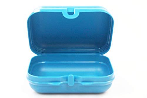 Tupperware Twin to Go Dunkles türkis Brotdose Behälter Lunchbox Twin klein Größe 2 38124