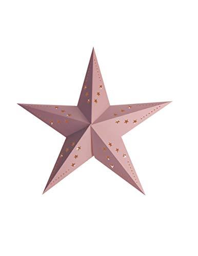 Party Pro 50251S, Lanterne étoile rose, 30 cm