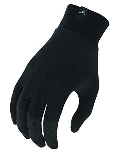 Terramar Adult Thermasilk Glove Liner (Black, Small)