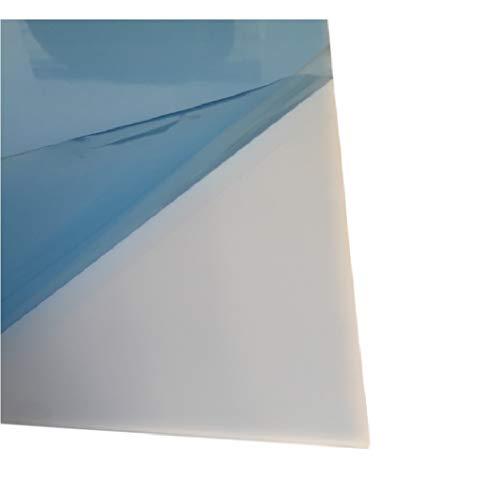 3,0 mm plexiglas acrylglas plaat opaal tafelformaat ca. 1010 x 500 mm melkachtig PMMA