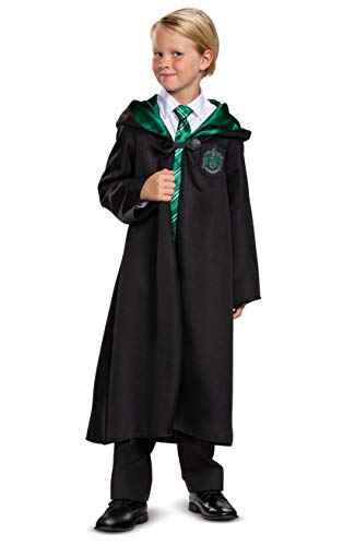 Harry Potter Slytherin Robe Classic Children's Costume Accessory, Black & Green, Kids Size Large (10-12)