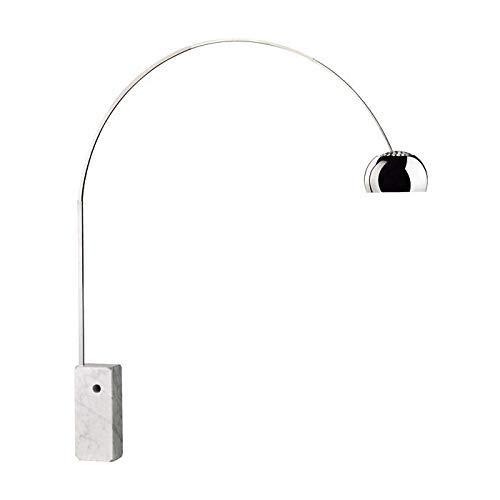 Flos - Lámpara de pie en forma de arco, diseño de Castiglioni 1962, conbase de mármol, de 70W