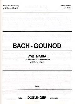 AVE MARIA - gearrangeerd voor trompet - piano [Noten / Sheetmusic] Componis: BACH JOHANN SEBASTIAN + GOUNOD CHARLES