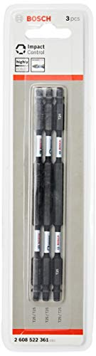 Bosch 2608522361-000, Bits Impact Ponta Dupla T25 (X3), Preto, 150 mm