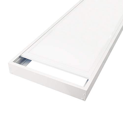 LEDUNI ® Marco Panel LED Empotrable Kit de Superficie Panel 60X30 Marco de Montaje Superficie Borde Blanco 60X30