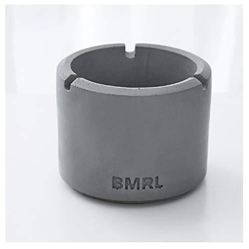 Asbak Ash Lade Terras Draagbare Cement Accessoires Gereedschap Home Decor Gadgets Outdoor Indoor Kantoor Huishoudelijk Gratis Staand 10.5X8.5cm HAODAMAI