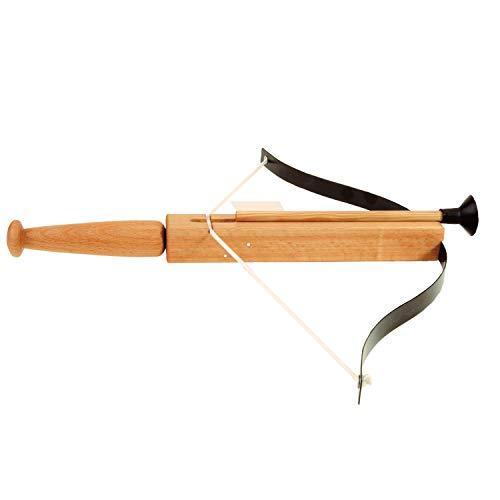 Armbrust Arcuballista aus Holz geölt mit 3 Sicherheitspfeilen 30/41cm (715) – Spielzeugmanufaktur Vah [Made in Germany | traditionelles Handwerk]