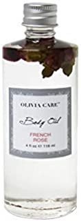 OLIVIA CARE Body Oils, Flavors: Apricot Fig, French Rose, Jasmine Gardenia -All Natural Perfume Fragrance & Body Oil Moisturizer, Rich in Vitamin E, K, Omega fatty Acids (French Rose)
