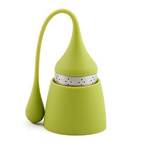 iNeibo Bonnet Noël infuseur thé en Silicone 100% Alimentaire avec Passoire en Acier Inoxydable (Set de 1)