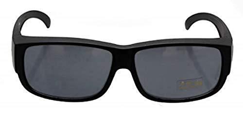 Oramics Sonnenbrille polarisiert Unisex Sonnen-Überbrille für Brillenträger, UV400 Überbrille polarisiert (Schwarz)
