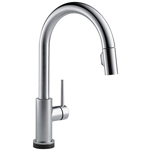 Delta Faucet Trinsic VoiceIQ Single-Handle Touch Kitchen Sink Faucet with Pull Down Sprayer, Alexa...