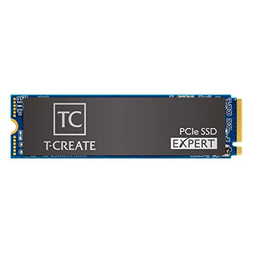 TEAMGROUP T-Create Expert TM8FPF002T0C711 2 TB M.2 PCIe 2280 NVMe 1.3 interne SSD, bis zu 3400 MB/s Design für Creators Gen3x4 Solid State Drive, Terabyte Written TBW 12.000 TB
