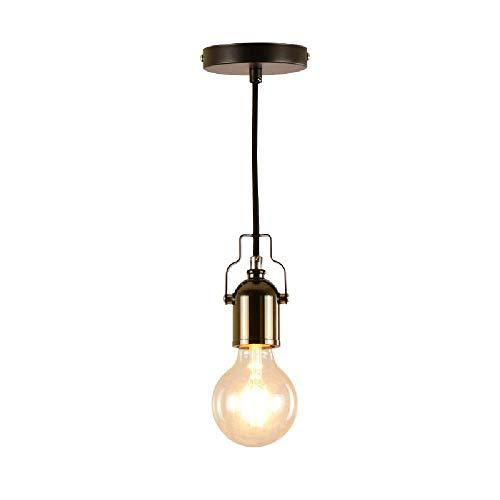 XXCLZ hanglamp, ijzeren hennep touw retro kroonluchter, voor restaurant bar tafellamp gang asle lamp kleine hanger lamp