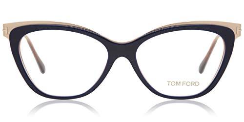 Tom Ford - FT 5374, Cat Eye, acetate/metal, women, DARK BLUE GOLD(090 G),...