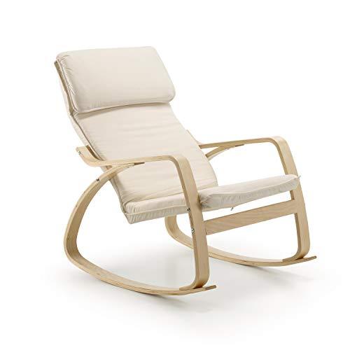 duehome - Mecedora Giro balanceo relajante, sillón balancín maternidad, medidas: 95 x 66 x 92 cm.