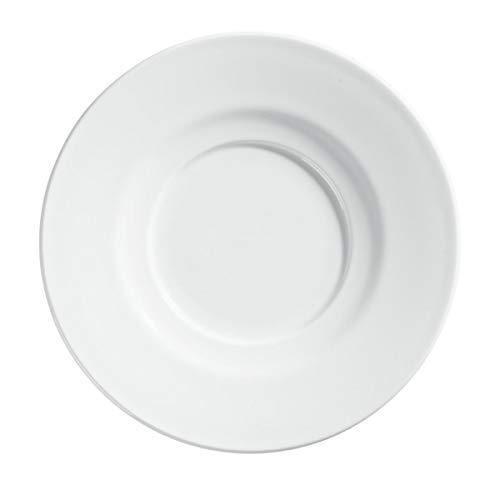 VEGA 10013185 Milchkaffee-Untertasse Bebida, rund, 15 cm (Ø), weiß, 6 Stück