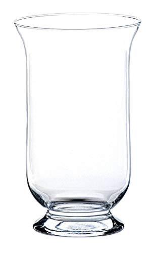 INNA-Glas Windlicht Glas - Blumenvase LEA, klar, 25cm, Ø 15cm - Glasvasen - Kerzenhalter Glas