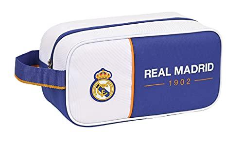 SAFTA Real Madrid, Scarpiera Unisex-Adulto, Blu e Bianco, M