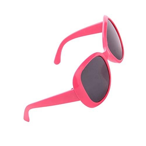 Baoblaze 1 Paar Süße Puppe Kunststoff Sonnenbrille Brille Für 18 Zoll Puppen Zubehör - Rot, A
