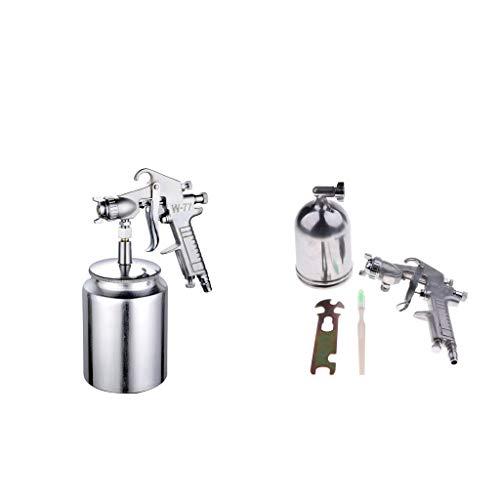 prasku 2x 2.5mm HVLP Gravity Feed PISTOLA a SPRUZZO Kit Regolatore Vernice Primer Metal Flake